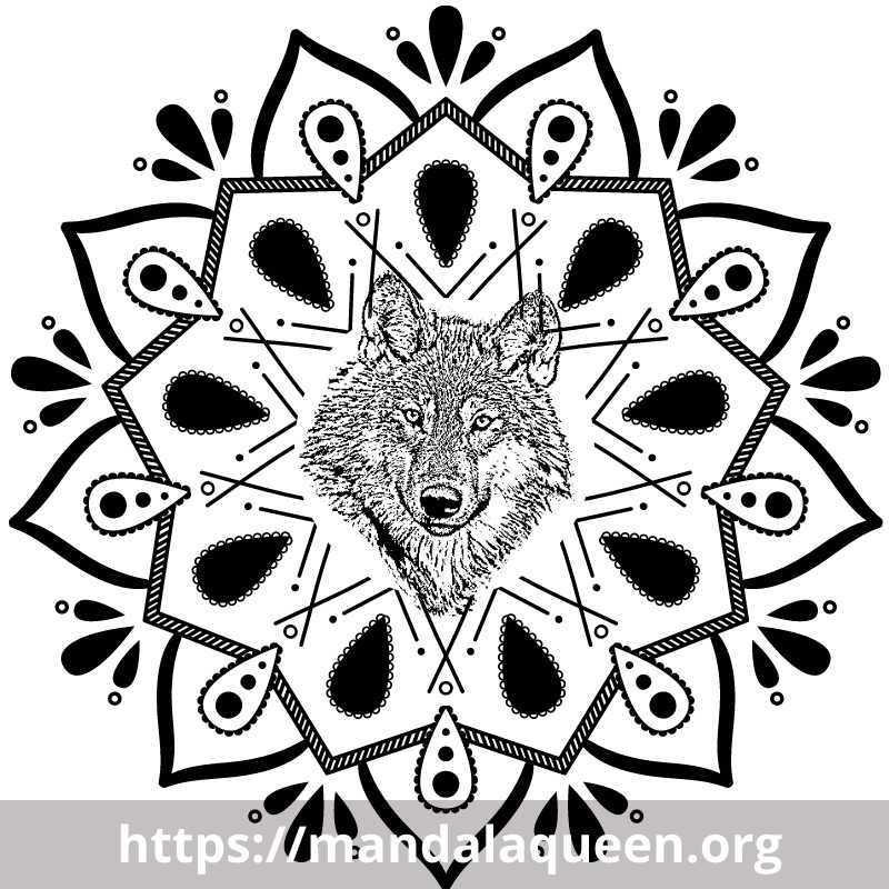 Top Tatouage Mandala Loup Coloriage