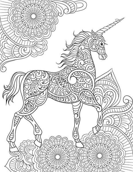 dessin mandala licorne